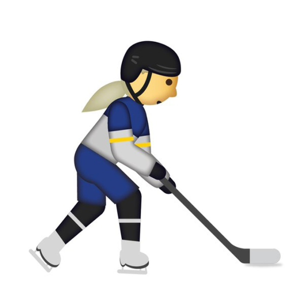 Female hockey player emoji