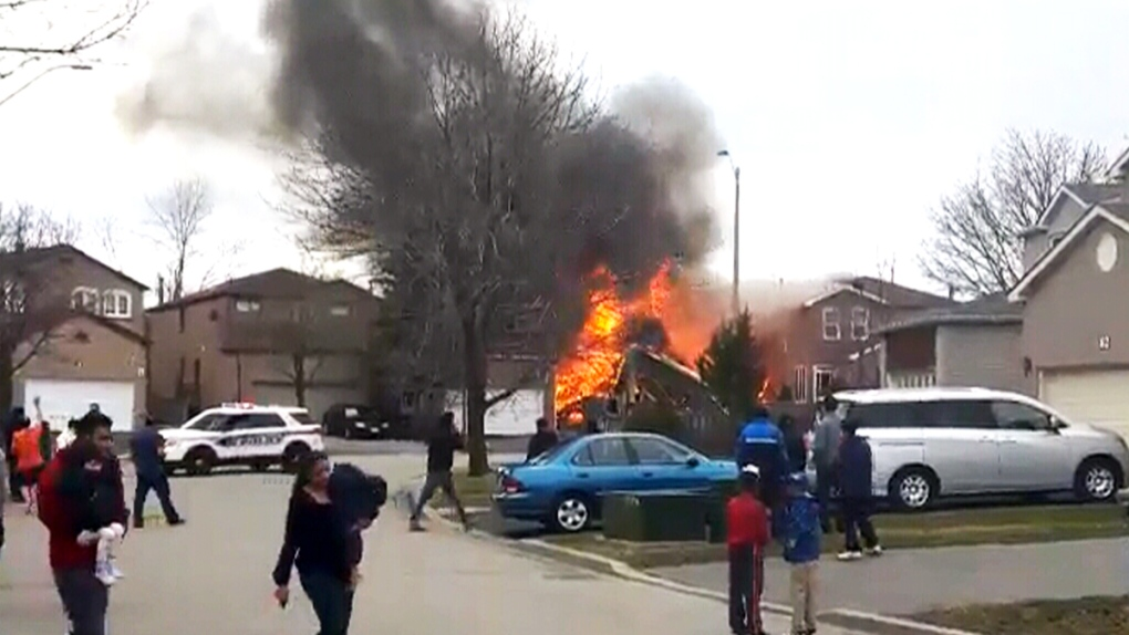 Extended House Fire Burns In Markham Ctv News