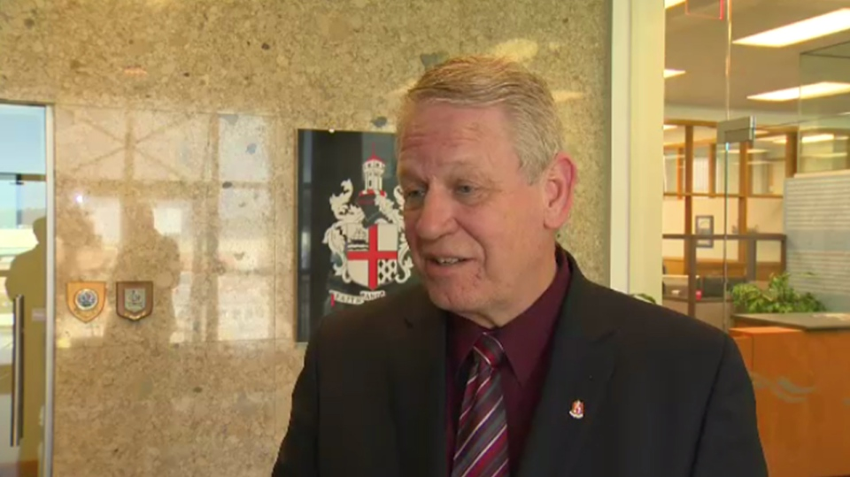 Nanaimo Mayor Bill McKay responds to allegations he has bullied a city staff member and councillors' calls for his resignation. Tues., March 15, 2016. (CTV Vancouver Island)
