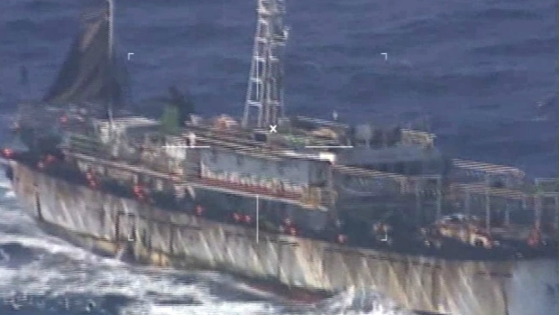 Argentina navy sinks Chinese fishing boat