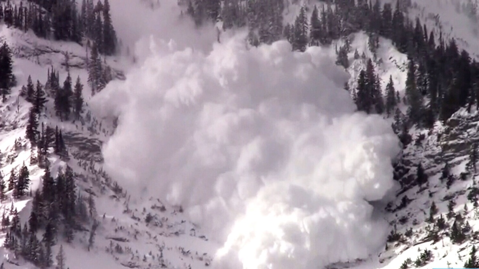File photo of an avalanche descending down a mountain in B.C. (File)