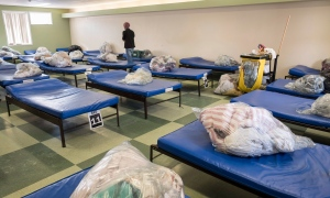 The men's dorm is seen at Shelter House in Thunder Bay, Ont. on Thursday, March 3, 2016. (Paul Chiasson / THE CANADIAN PRESS)