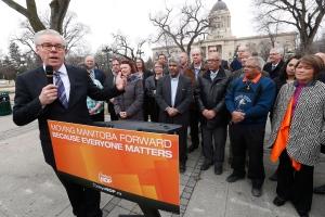 Manitoba Premier and NDP leader Greg Selinger