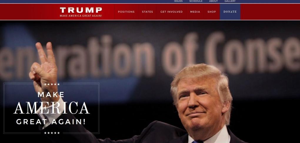 NDP website Donald Trump