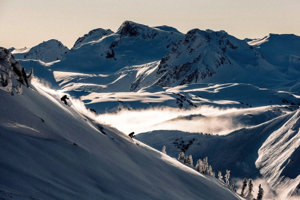 Skiing at Whistler Blackcomb Resort is shown in a handout photo. (Destination BC / Robin O'Neill)