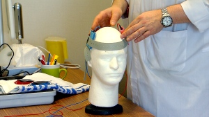 Researchers used what's called transcranial direct current stimulation (TDCS), which involves passing a very low electrical current -- a tiny fraction of what goes through a lightbulb -- through a patient's brain.