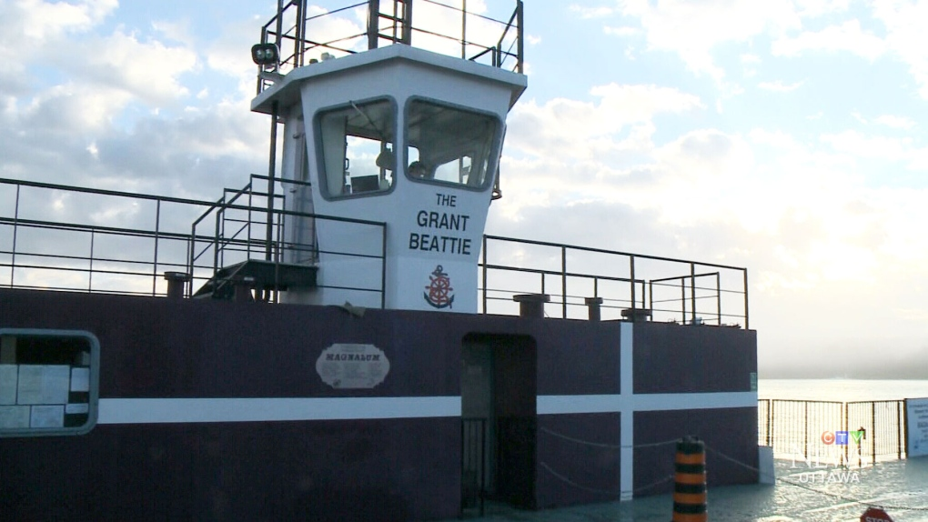 CTV Ottawa: Quyon ferry back in action