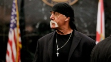 Hulk Hogan arrives before the start of his trial