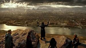 "Screenshot from ""X-Men: Apocalypse"" trailer showing Magneto, Angel, Psylocke and Storm (20th Century Fox/YouTube)"