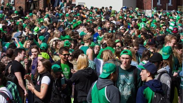 St. Patrick's Day celebrations in Kingston, Ont.