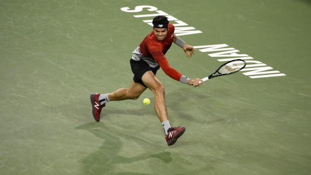 Milos Raonic beats Gael Monfils at Indian Wells