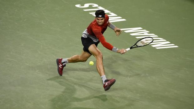 Milos Raonic beats Gael Monfils at Indian Wells