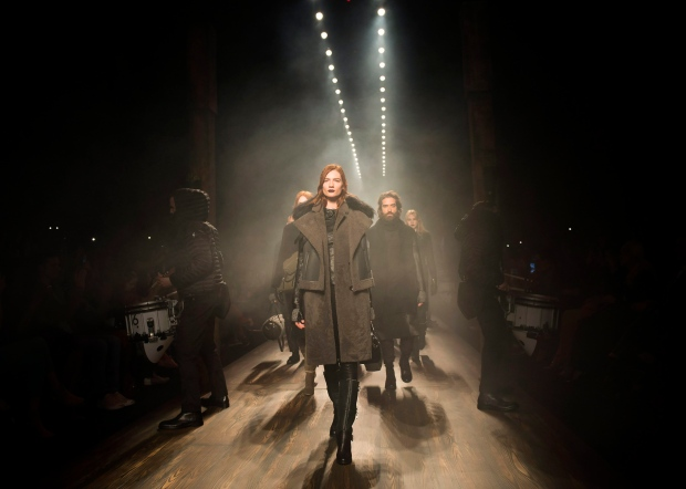 Models walk the runway for the Rudsak collection during Toronto Fashion Week in Toronto on Thursday, March 17, 2016. THE CANADIAN PRESS/Nathan Denette