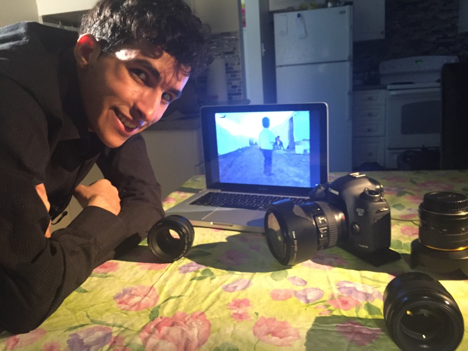 Hani Al Moulia, the eldest of the Al Moulia sons. Hani is also a budding photographer - a skill he learned in the refugee camps. (W5)