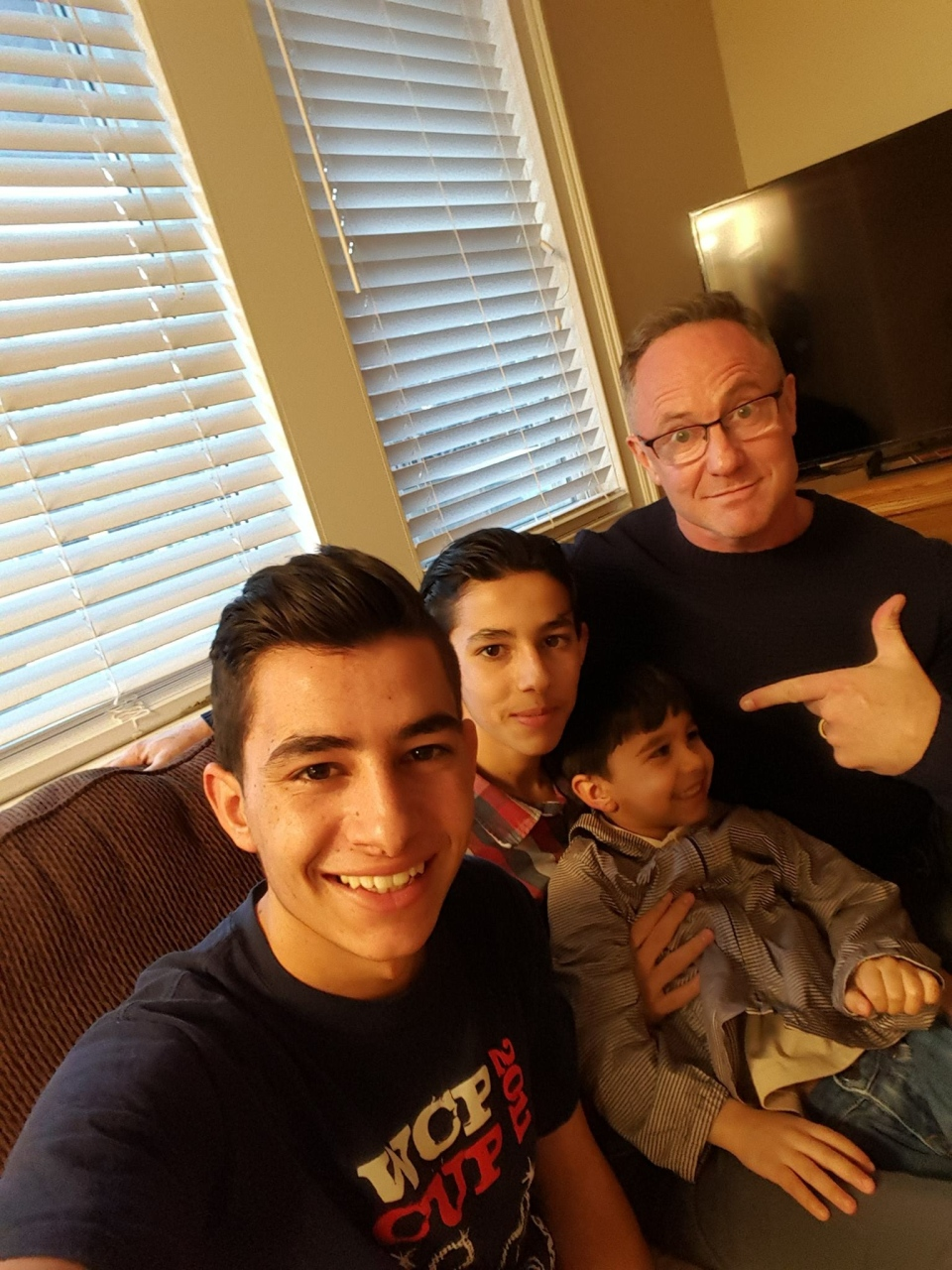 Kevin Newman with the Al Moulia boys.