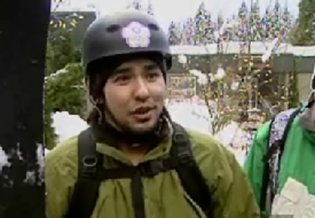 One of the four men who have been banned from Grouse Moutain after ignoring out of bounds warnings. Jan. 2, 2009.