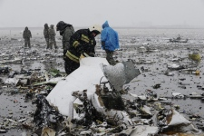 Plane wreckage in Rostov-on-Don