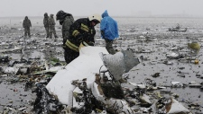 Debris from airliner crash in Russia