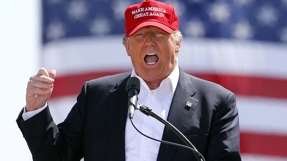 Republican presidential candidate Donald Trump speaks during a campaign rally Saturday, March 19, 2016, in Fountain Hills, Ariz. (AP / Matt York)