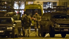 Special operations police during Brussels raid