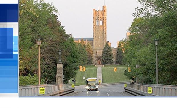University Drive bridge at Western