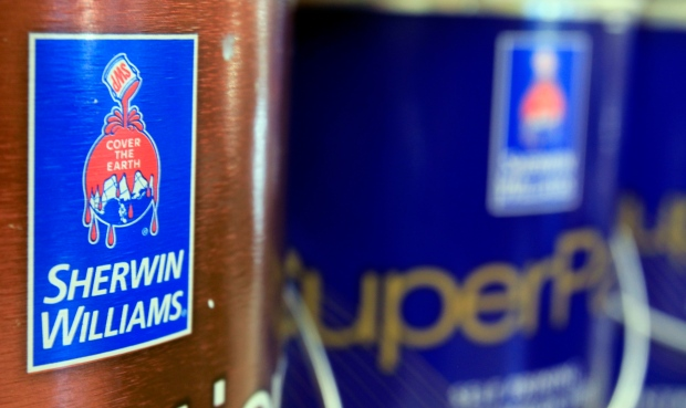 Sherwin-Williams paint cans