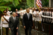 Barack Obama with Raul Castro in Cuba