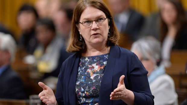 Health Minister Jane Philpott answers a question during question period in the House of Commons on Parliament Hill in Ottawa, on Monday, March 21, 2016. (Adrian Wyld / THE CANADIAN PRESS)