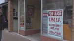 An empty store front is seen in London, Ontario's core as Downtown London sought funding for a consultant on Monday, March 21, 2016. (Daryl Newcombe / CTV London)