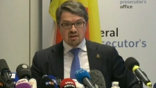 Belgium Prosecutor Frederic Van Leeuw in Brussels