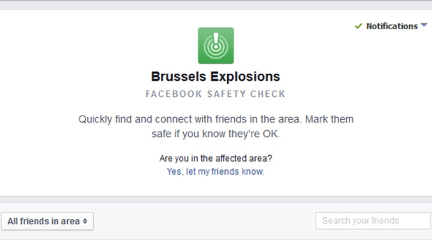 Facebook Brussels safety check