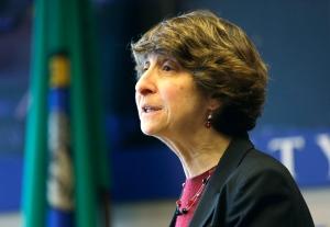 In this Feb. 4, 2014, file photo, Jocelyn Samuels speaks in Seattle. (AP Photo/Elaine Thompson, File)
