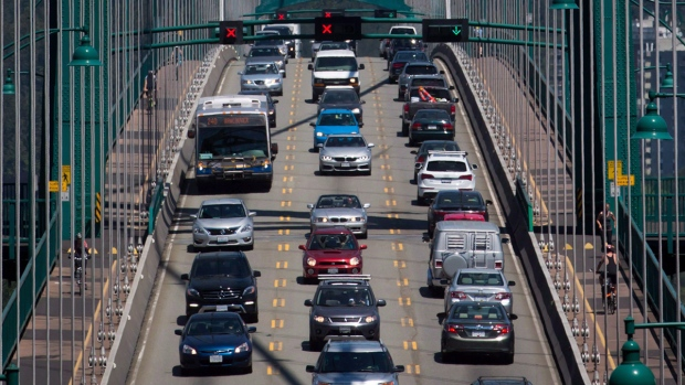 Traffic in Vancouver, B.C.