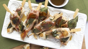 Prosciutto Wrapped Chicken Skewers from Sunterra