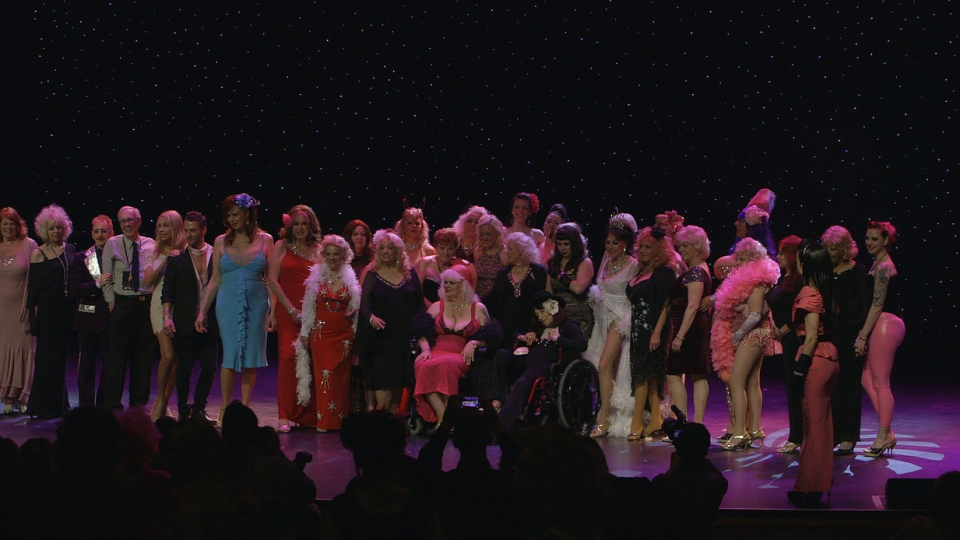 The women of the documentary 'League of Exotique Dancers' on stage in Las Vegas at the 2015 Burlesque Hall of Fame Weekender. (Storyline Entertainment)