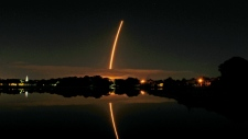 Rocket departs for space station