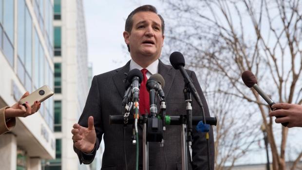 Sen. Ted Cruz near the Capitol