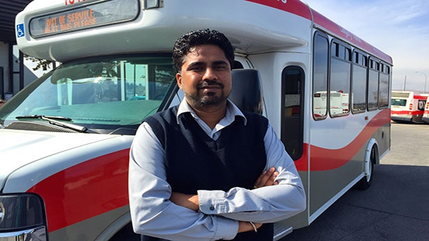 Shuttle Transit Operator, Amandeep Hunjan, came to the woman's rescue.