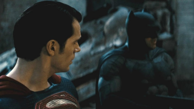 Henry Cavill and Ben Affleck in 'Batman v Superman: Dawn of Justice'.