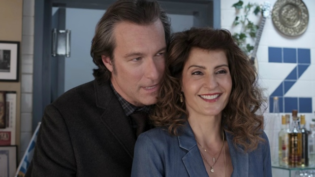 Nia Vardalos and John Corbett in 'My Big Fat Greek Wedding 2'
