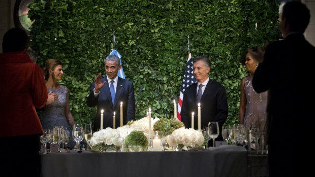 Obama, Macri at a State Dinner in Buenos Aires