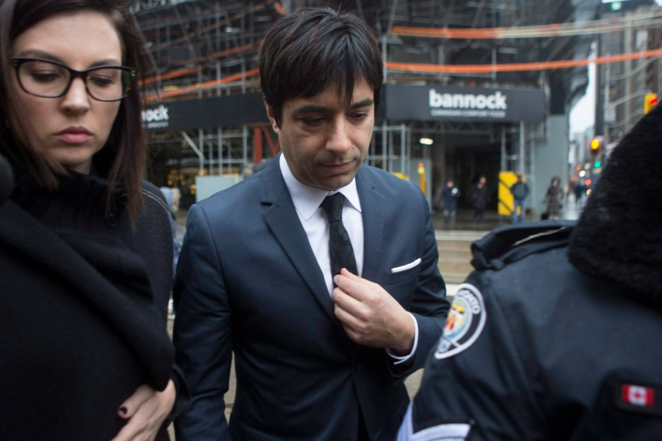 Jian Ghomeshi arrives at a Toronto courthouse, Thursday, March 24, 2016. (Chris Young / THE CANADIAN PRESS)