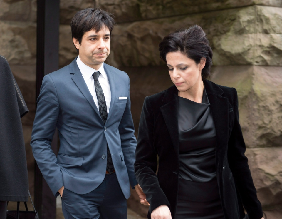 Jian Ghomeshi leaves court with his lawyer Marie Henein in Toronto, Thursday, March 24, 2016. (Frank Gunn / THE CANADIAN PRESS)