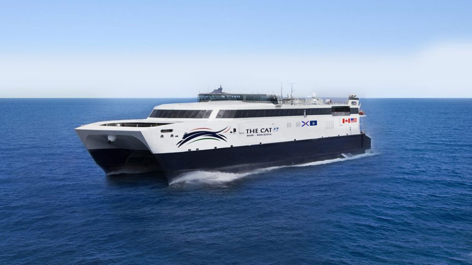Nova Scotia has inked a 10-year agreement with Bay Ferries Ltd. that will see the company operate a high speed ferry between Yarmouth and Portland, Maine. Bay Ferries has a lease agreement for a vessel owned by the U.S. military's Sealift Command. (Bay Ferries)