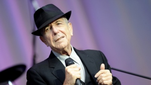 In this Aug. 18, 2010 photo, singer Leonard Cohen performs open air at the Waldbuehne in Berlin. (AP Photo/DAPD, Kai-'Uwe Knoth)