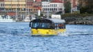 An amphibious Hippo Tours bus is show in Victoria's Inner Harbour in this undated photo. (Facebook)