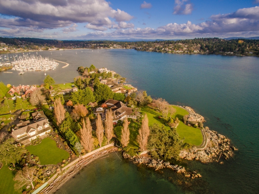 A stately and sprawling gated property on Oak Bay's Uplands waterfront is among the most expensive homes on the island according to BC Assessment's latest numbers. (File)