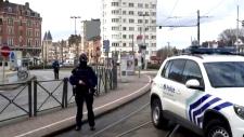 Police patrol streets of Brussels