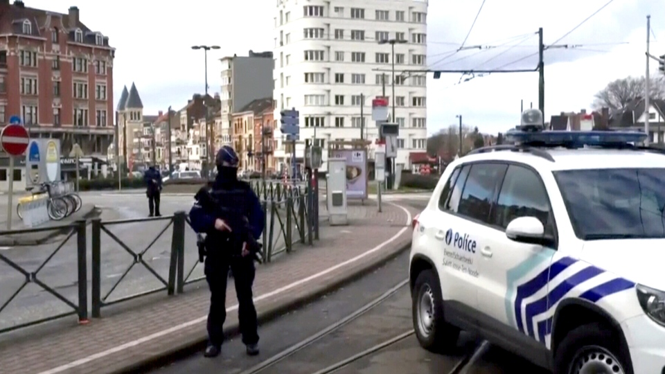Police patrol the streets of Brussels, Friday, March 25, 2016.
