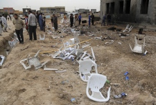 Aftermath of bombing at Iraq soccer field